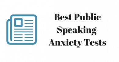 public speaking anxiety test