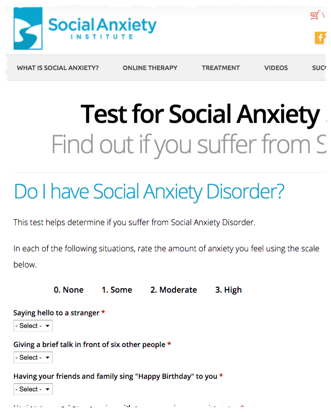 Social Anxiety Test - AI